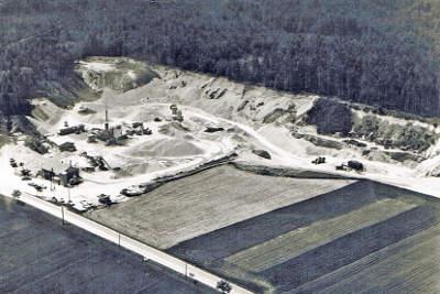 Das Areal des Unternehmens im Jahr 1974.